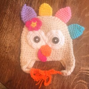 Other - Adorable crocheted turkey hat!